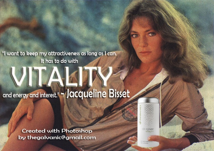 """I want to keep my attractiveness as long as I can. It has to do with VITALITY and energy and interest."" - Jacqueline Bisset"