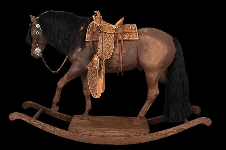 John Willemsma collaborated with saddletree maker Jon Watsabaugh and five TCAA members to create this rocking horse. Read more: http://www.westernhorseman.com/article/ride-west/2823-the-ultimate-rocking-horse#ixzz3yye7GuPV