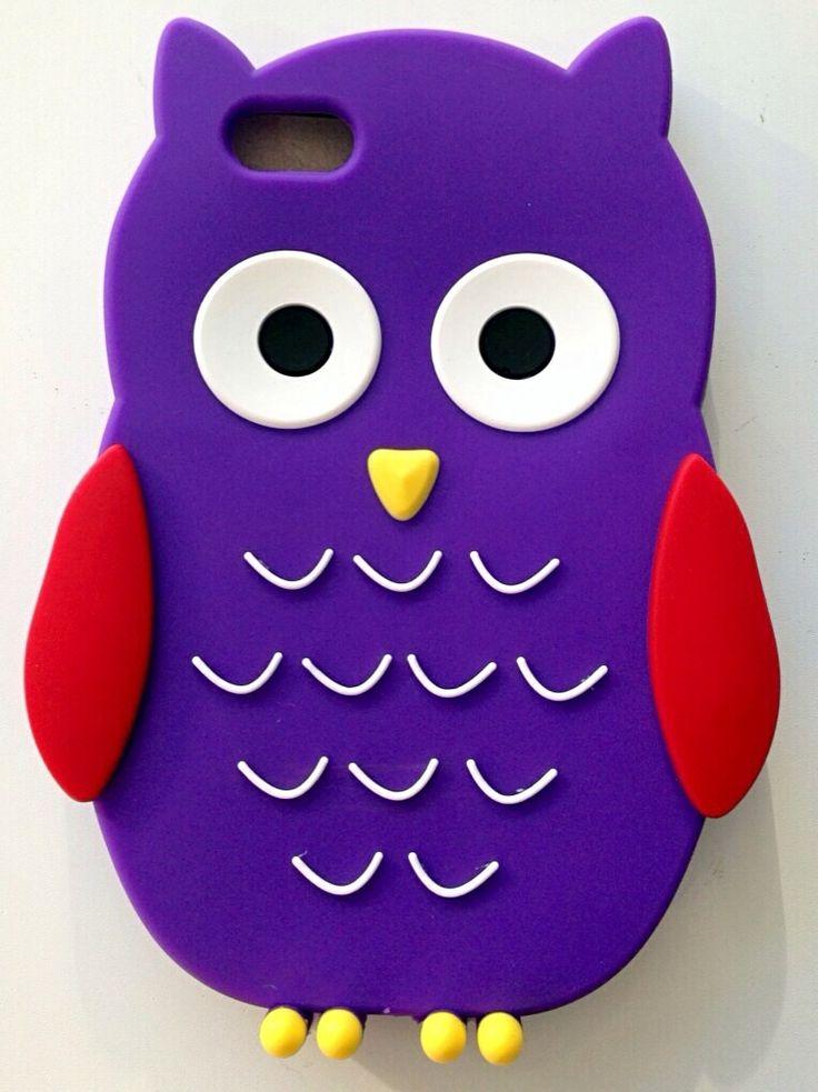 Carcasa silicona Buho violeta Iphone 5G/5S/5C a 5,95€ Envíos incluidos www.mcase.es