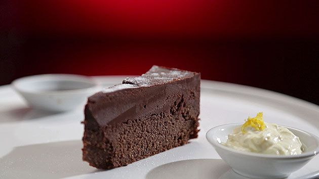 MKR4 Recipe - Chocolate Chilli Torte with Orange Mascarpone and Espresso Sauce (Luke & Scott)