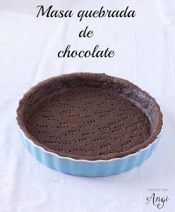 Masa quebrada de chocolate
