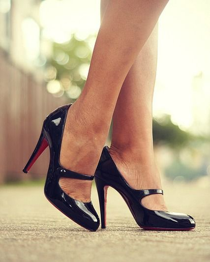 christian louboutin black mary jane pumps