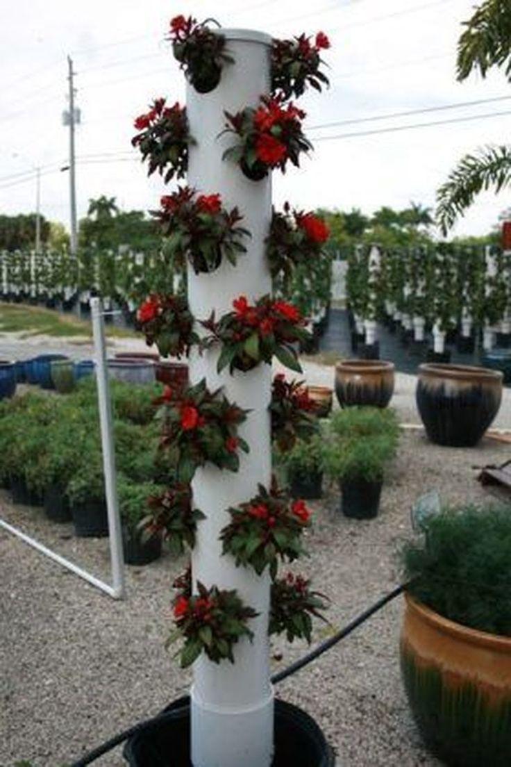 36 Easy Vertical Garden Pipes Design Ideas | Vertical ...