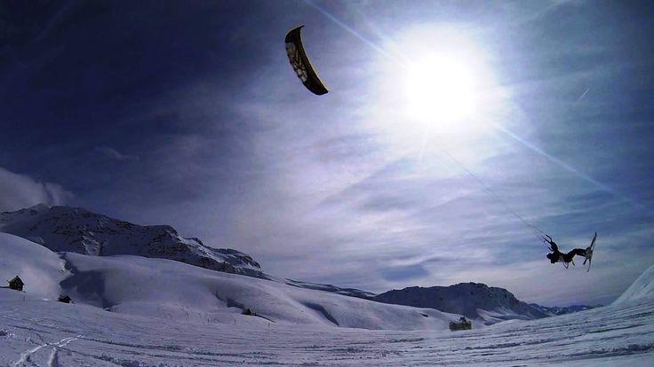 Kiteloop Backloop with my #speed3 #flysurfer  #snowkite #sanbernardino