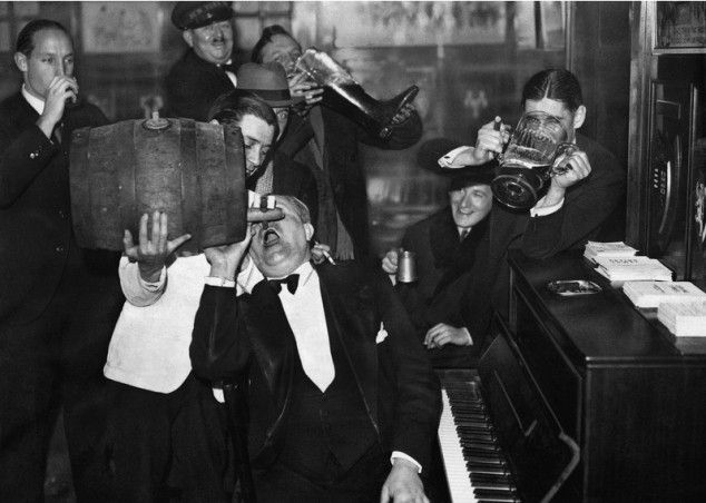 Two-fisted Celebration of the end of Prohibition