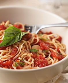 Carrabba's Picchi Pacchiu sauce is made from scratch with crushed tomatoes, garlic, extra virgin olive oil and fresh basil. When finished, it is poured over fresh, bronze-cut tagliarini pasta imported from Italy to make the Tag Pic Pac Signature Pasta!