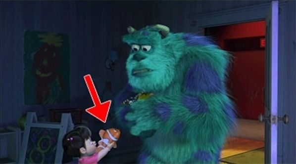 boo has a nemo doll in monsters inc