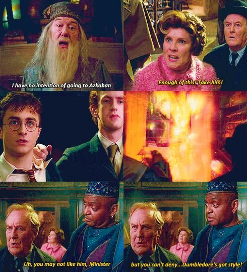 Dumbledore's got style.