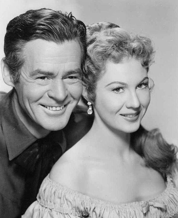 Robert Ryan and Virginia Mayo, The Proud Ones (1956)