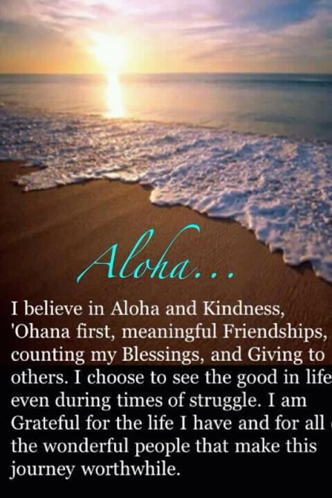 Aloha. This is me and This is why I feel home in Hawaii! Aloha spirit is contagious. :-)