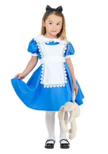 This Toddler Supreme Alice Costume is a cute storybook look that will sweep your little girl on an adventure to Wonderland.