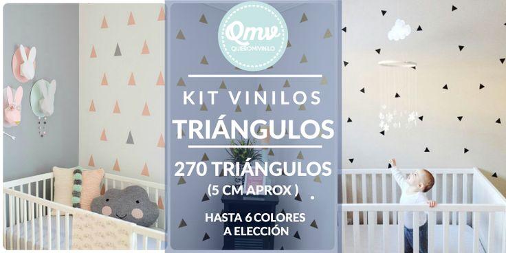 Kit Vinilos Decorativos 270 triángulos (5cm aprox) #QMV #quieromivinilo #kit…