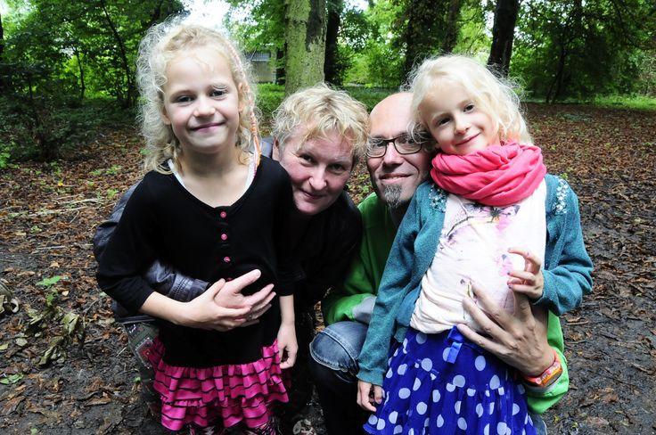 Broer Rick met vrouw Monique en kinderen Puk en Jet