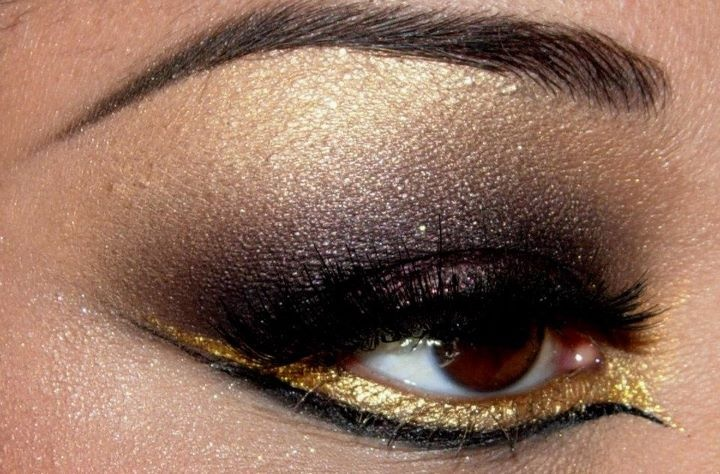 queenofblendingmua.: Eye Makeup, Brown Eye, Eyebrows Shape, Hair Makeup, Makeup Eye, Black Gold, Eyeshadows Makeup, Mixed Metals, Goddessgold Eyeshadows