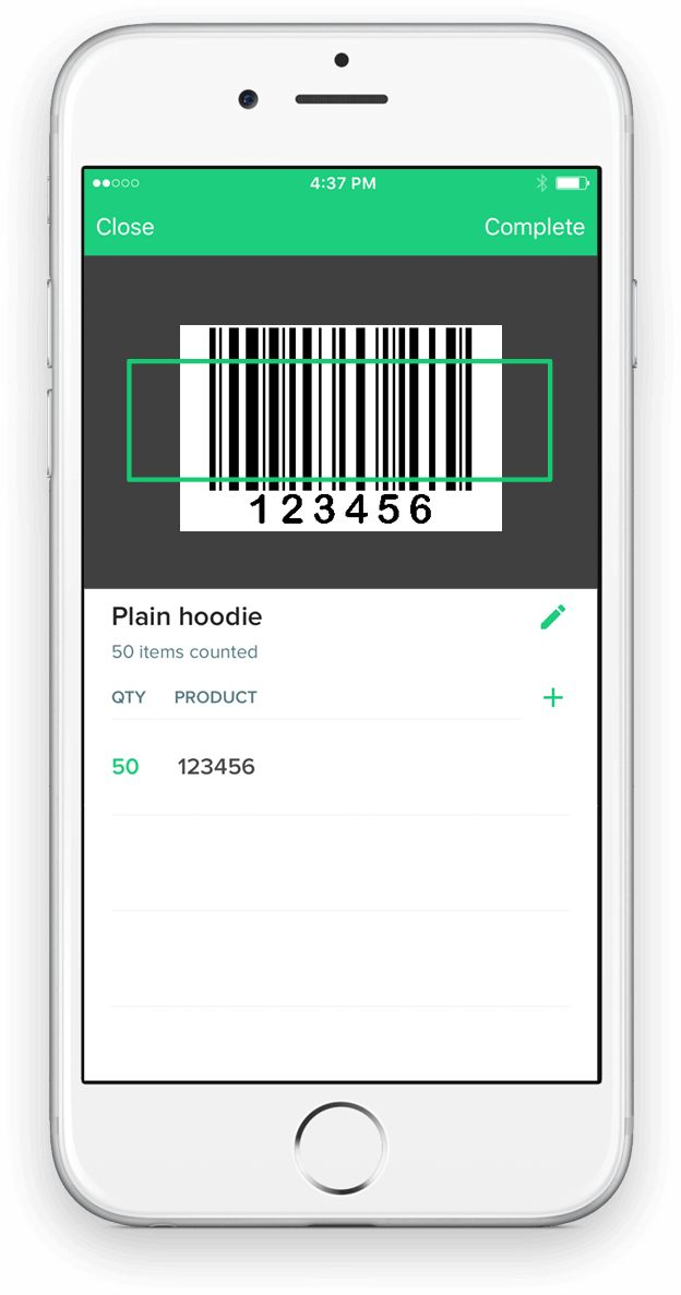 Counter Free Inventory Barcode Scanner iPhone App for