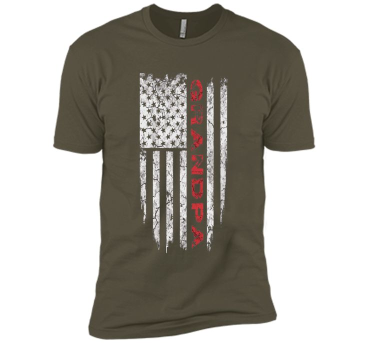 Grandpa American Flag T-shirt Father's Day Gifts Tee Shirts