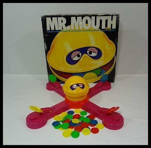 MR. MOUTH BATTERY-OPERATED BOARD GAME....I wanted this game so bad when I was little but my mom would NOT buy it for whatever reason