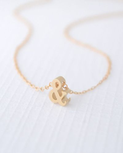Gold #Ampersand Necklace by Olive Yew #designtrend