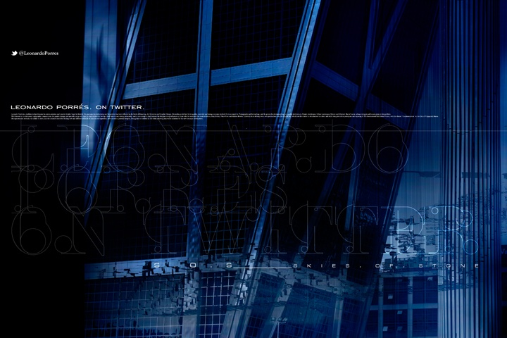 """LEONARDO PORRÉS. ON TWITTER. #022 """"SKIES.OF.STONE"""" V7 ___ Artwork inspired on the film """"I, Robot"""" and the song """"I, Robot Theme (End Credits)"""", Score composed by Marco Beltrami. I invite to see the picture listening at the song here: www.youtube.com/... __ Design & Photography © Leonardo Porrés __ #inspirational #creativity #concept #art #direction #graphic #design #photography #digital #mixed_media #flickr __ http://twitter.com/leonardoporres"""