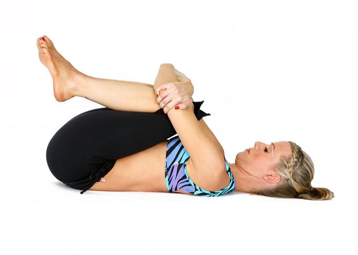 Wind Removing Pose, Pavanamuktasana - Cures and prevents flatulence, which is the source of most chronic abdominal discomforts.  Improves the flexibility of the hip joints and firms the abdomen, thighs, and hips. Strengthens the bicep and tricep muscles of the upper arms and all the muscles of the forearm.