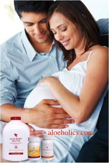 """The Forever Product will make sure that you give the new life in you and yourself the best pregnancy and new start into a new life - make sure you can enjoy the """"Glow"""" whilst and after the pregnancy. http://aloeholics.com"""