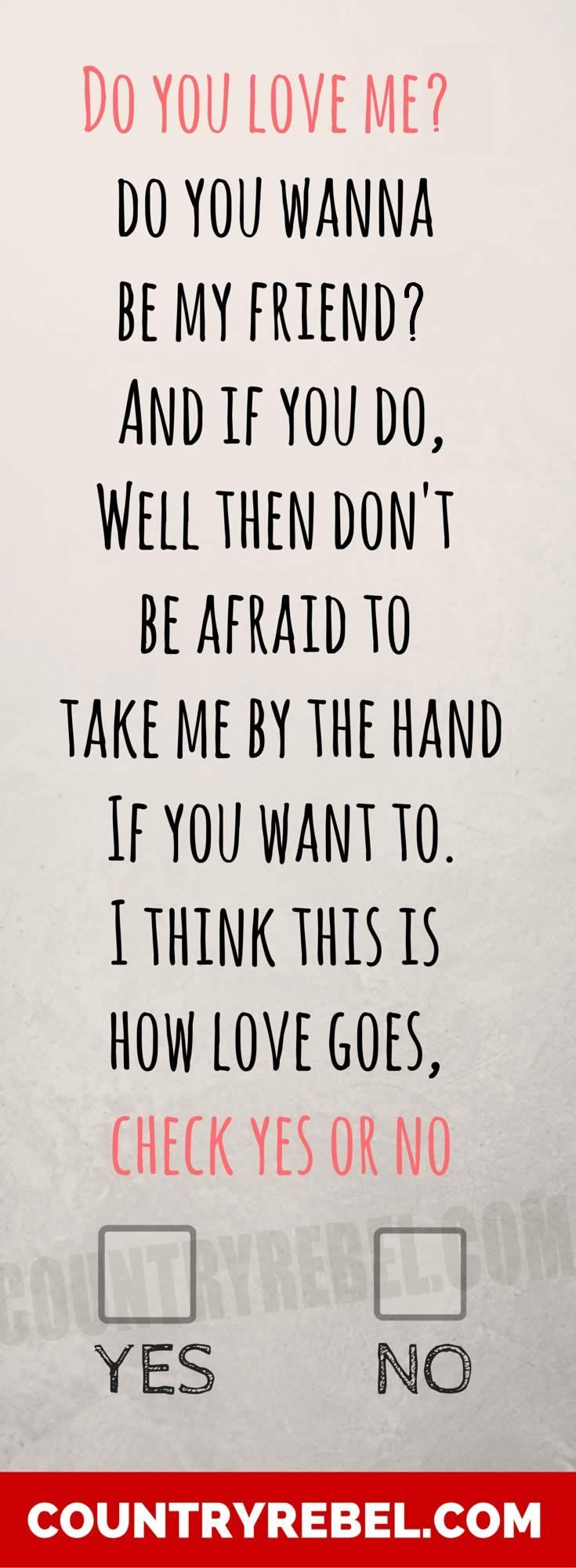 Country Music Quotes | George Strait - Check Yes Or No. Listen and Watch the Video