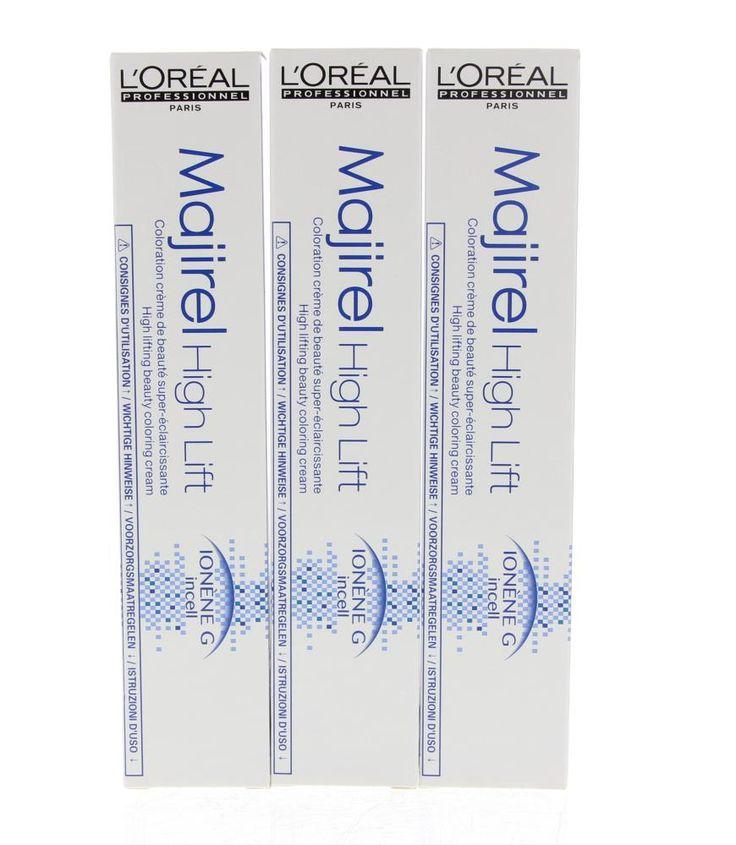 L'Oréal Professionnel Majiblond High Lift  Description: L'Oréal Professionnel Majiblond High Lift.Deze permanente haarverf heeft koele blonde kleuren en kan het haar tot wel 45 toon lichter maken. De crème voedt en beschermt het haar van binnenuit en heeft een 100% grijsdekking.  Price: 9.25  Meer informatie