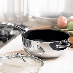 Princess House Stainless Steel Nonstick 4 quart Chef's Pan...in book for one hundred and forty nine dollars.... hostess special sale $24.95!!! contact lindabradley at myprincesshouse dot com