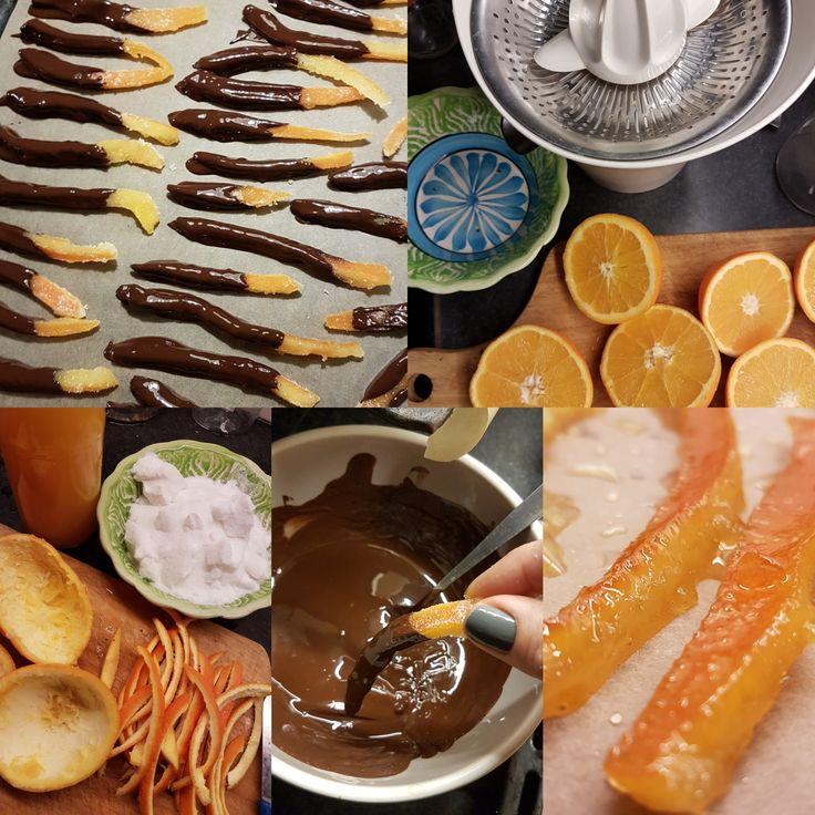 Een quilty pleasure van vroeger, mijn oma haalde ze bij de banketbakker en dan mocht je er 1 opknabbelen, hemel op aarde, de combinatie van sinaasappel met chocolade die wegsmolt in je mond. …