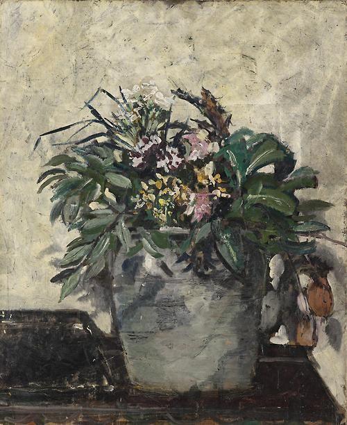 Filippo de Pisis (Italian, 1896-1956), Vaso con fiori, 1926. Oil on cardboard, 73 x 60cm.