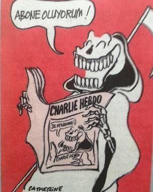 """""""Předplácím"""".  http://dudnes.cz/blog/2015/01/14/charlie-hebdo-po-nekolika-minutach-vyprodan/"""
