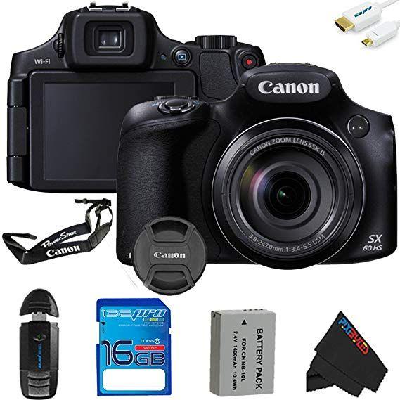 Photography Canon Powershot Sx60 Hs Digital Camera 16gb Pixi Basic Accessory Kit International Version Powershot Digital Camera Canon Powershot