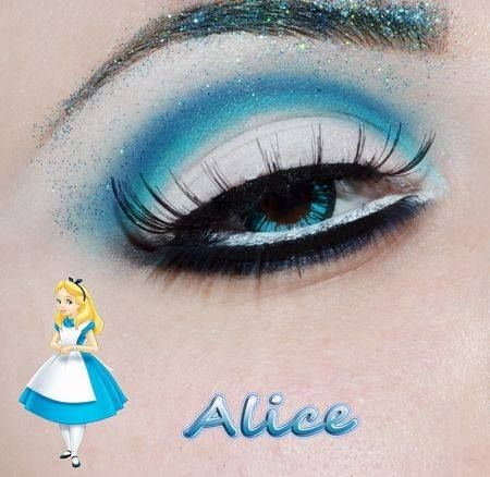 I think by using this make up it would really go with the alice's appearance and the color of alice's dress. Anna Faris eyes go great because she also has a tint of blue eyes. It even has glitter to make it sparkle and give that magical look.