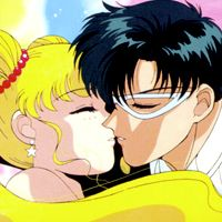 When do Sailor Moon and Tuxedo Mask get together?