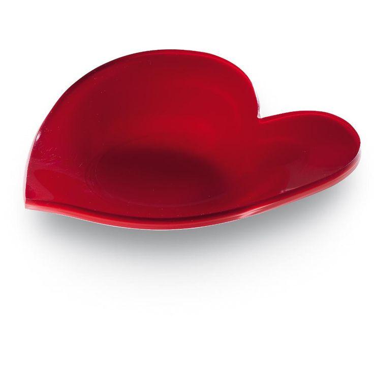 Vuotatasche cuore Heart in plexiglas 22x23xh4cm colorato rosso | Vesta | Stilcasa.Net: svuotatasche