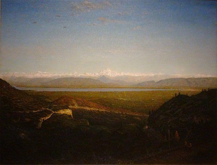 """Theodore Rousseau:  """"The Mont-Blanc, seen from the Faucille"""", circa 1863-67,  Oil on canvas, 91.4 x 118.4 cm,  Minneapolis, Institute of Art."""