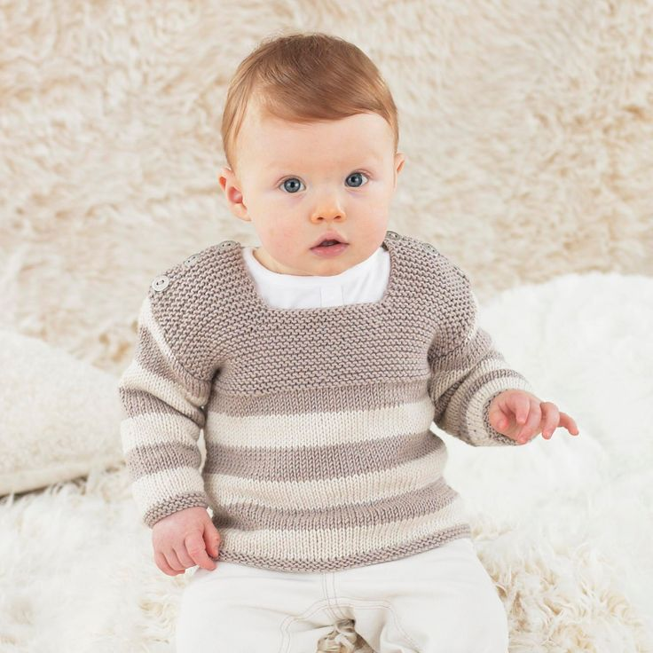 Stripey Noah is the easiest hand knit for boys - made in fabulously soft Sublime baby cashmere merino silk dk.