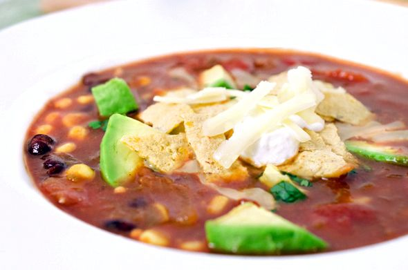 Vegetarian Tortilla Soup | soup | Pinterest