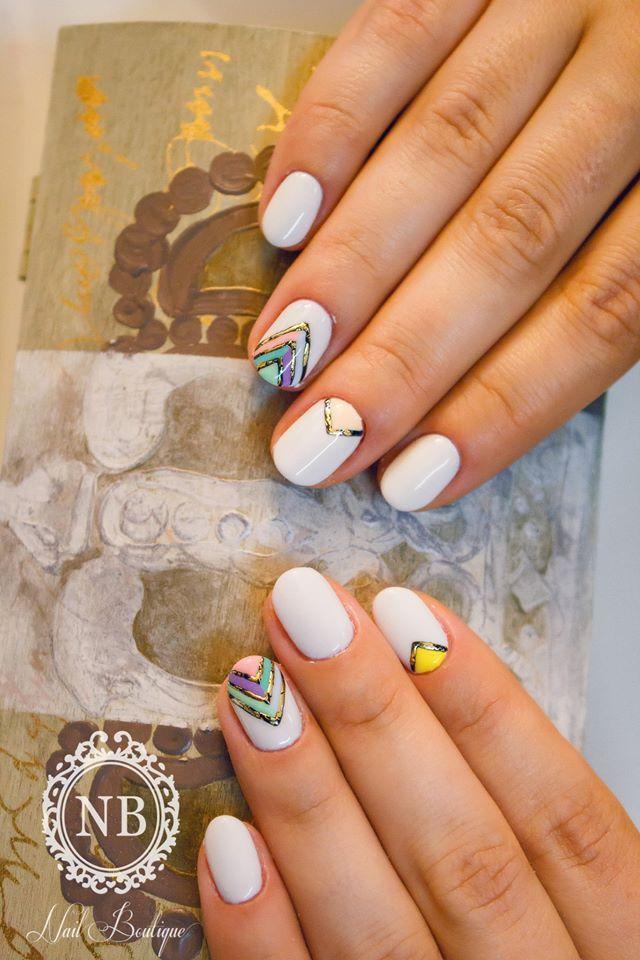 aztec style white white nail polish
