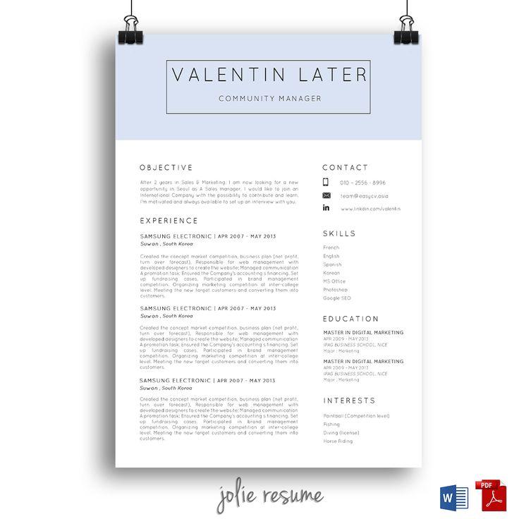 28 best resume    cv design images on pinterest