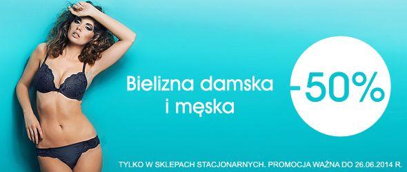 Banner promujący obniżkę cen bielizny w sklepach stacjonarnych Kari. #banner #bielizna #kari #sklepstacjonarny