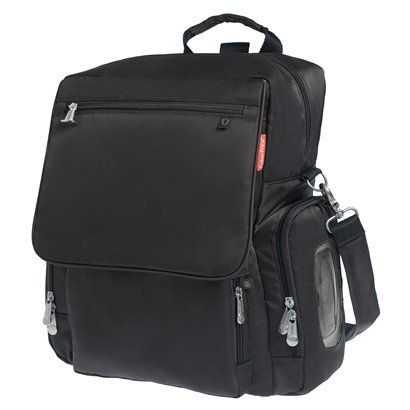 Fisher Price Fastfinder Deluxe Convertible Backpack Diaper Bag - Black