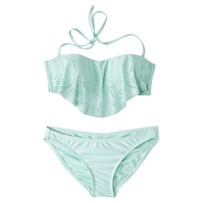 I have to get this top!! Xhilaration® Junior's Hanky 2-Piece Swimsuit -Seafoam Green