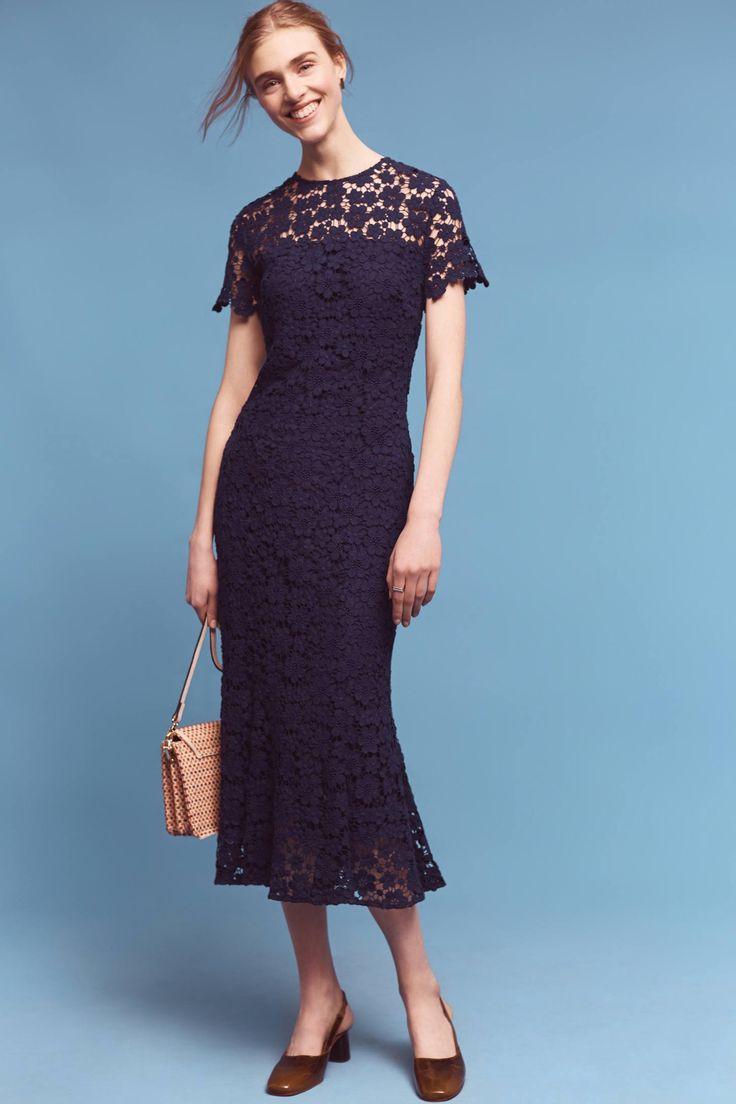 Slide View: 1: Midnight Lace Midi Dress
