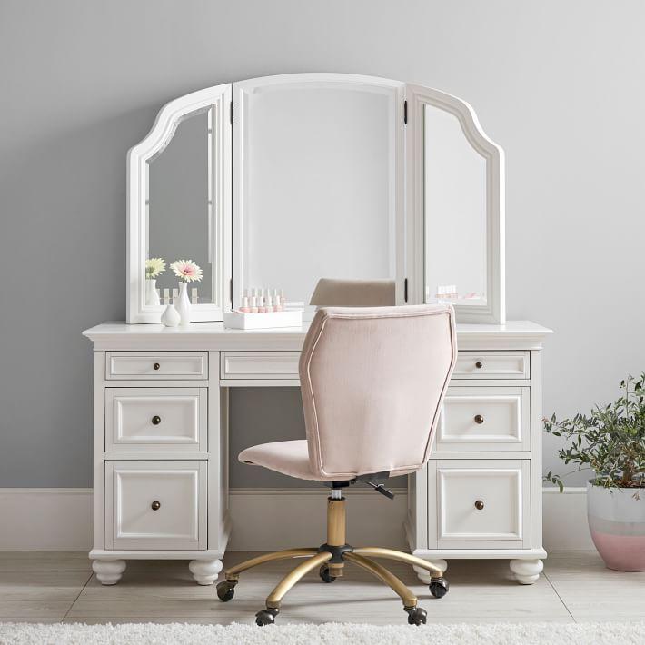 Chelsea Smart Storage Vanity Desk Set Vanity Desk Vanity Set Bedroom Vanity