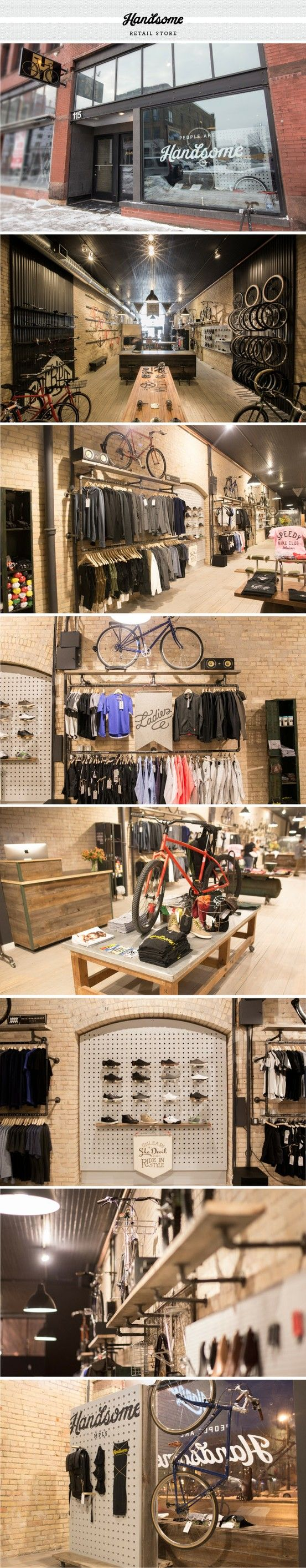 handsome cycles retail store designed by joe anderson meenal patel and marina groh - Retail Store Design Ideas