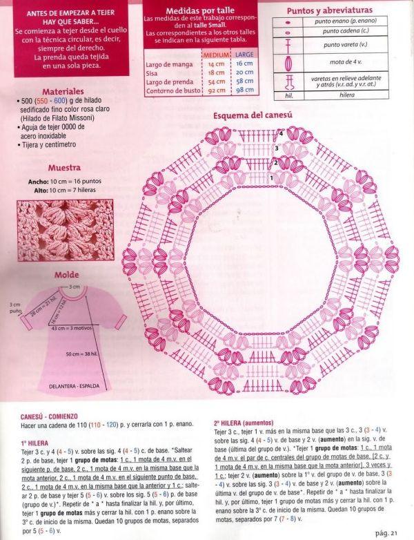 118 best blusa crochet tejida del cuello hacia abajo images on ...