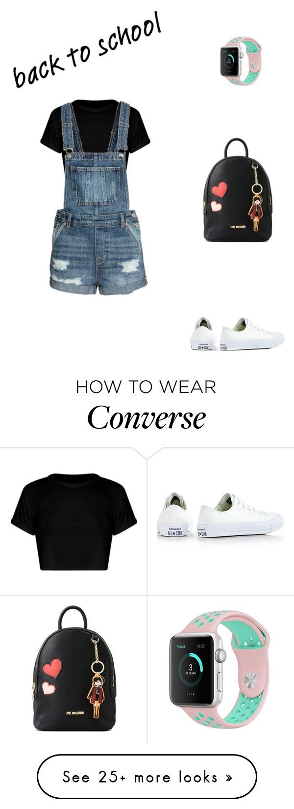 """""""back-to-school shopping"""" by explorer-14697201715 on Polyvore featuring Converse, Love Moschino and BackToSchool"""