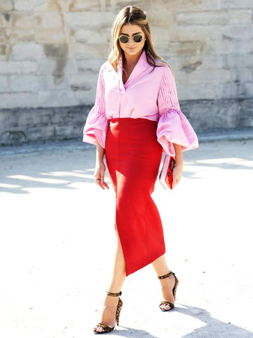 How To Wear Pink + Red, The Colour Combo That's Having A Moment | Stylight