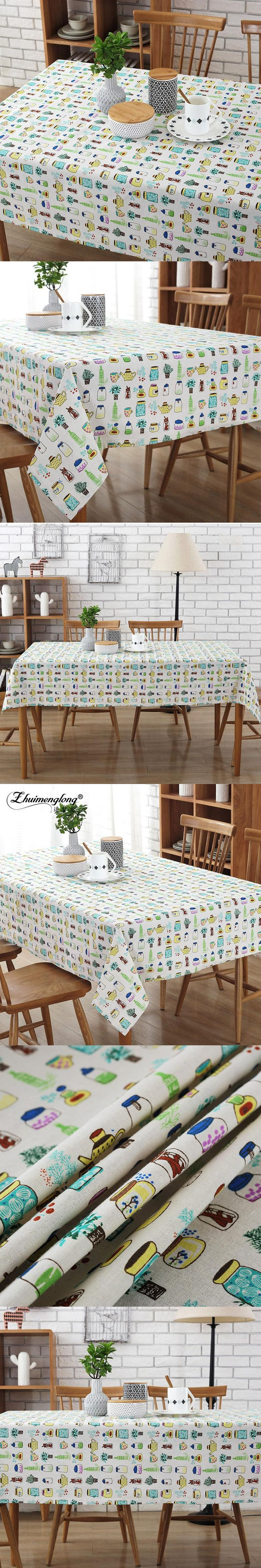 Zhuimenglong Tablecloth 8 sizes Kettle And Bottles Cotton And Linen Dust  Tea Cover Picnic Blanket Home